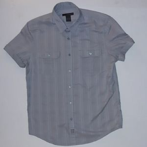Calvin Klein Jeans short sleeve button down mens L